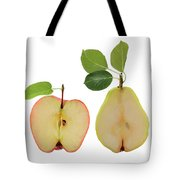 Illustration Of Apple And Pear Tote Bag