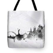 Illustration Of City Skyline - Kiev In Chinese Ink Tote Bag