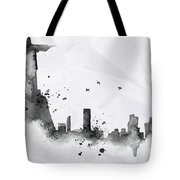 Illustration Of City Skyline - Rio De Janeiro In Chinese Ink Tote Bag