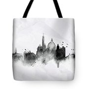 Illustration Of City Skyline - Rome In Chinese Ink Tote Bag