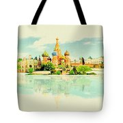 Illustration Of Moscow In Watercolour Tote Bag