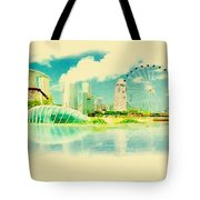 Illustration Of Singapore In Watercolour Tote Bag