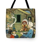Illustration Of The First Thanksgiving Tote Bag