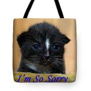 I'm So Sorry Greeting Card Tote Bag