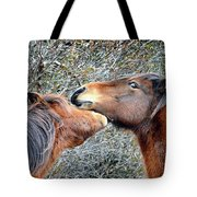 I'm The Boss Says Patricia Irene To April Star Tote Bag by Assateague Pony Photography