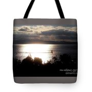 Image Included In Queen The Novel - Lighthouse Contrast Tote Bag