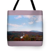 Image Included In Queen The Novel - New England Church Enhanced Tote Bag