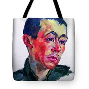 Image Of A Soldier Tote Bag