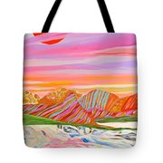 My Imagination Of China's Vast Rainbow Mountains Tote Bag
