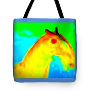 Imagine All The People And All The Horses  Tote Bag