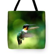 Img_9985-001 - Ruby-throated Hummingbird Tote Bag