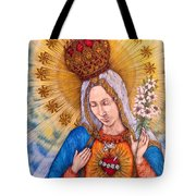 Immaculate Heart Of Virgin Mary Tote Bag
