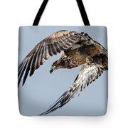 Immature Bald Eagle Leaving A Perch Tote Bag