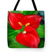 Immeasurable Beauty- Anthurium Paintings Tote Bag