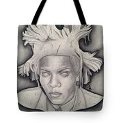 Immortalizing In Stone Jean Michel Basquiat Drawing Tote Bag