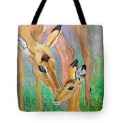 Impala Doe And Fawn Tote Bag