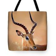 Impala Male Portrait Tote Bag