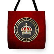 Imperial Tudor Crown Over Red Velvet Tote Bag