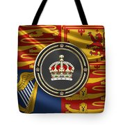 Imperial Tudor Crown Over Royal Standard Of The United Kingdom Tote Bag