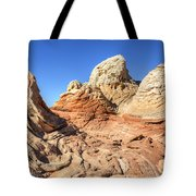 Impossible Rock Formations In The White Pocket Tote Bag