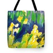 Impression Flowers Tote Bag