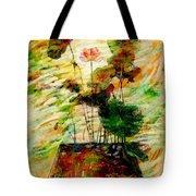 Impression In Lotus Tree Tote Bag