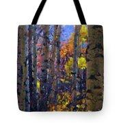 Impression Of Fall Aspens Tote Bag