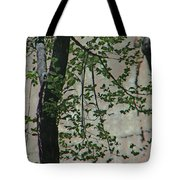 Impression Of Wall And Trees Tote Bag