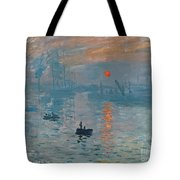 Impression Sunrise Tote Bag by Claude Monet