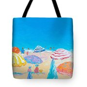 Impressionist Beach Painting Tote Bag
