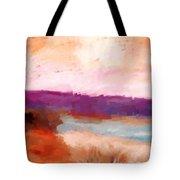 Impressionist Beach Scene Tote Bag