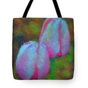 Impressionist Pink Tulips Tote Bag