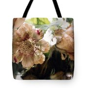 Impressionistic Green Peach Coral Floral Prints - Romantic Watercolor Peach Green Floral Decor Tote Bag