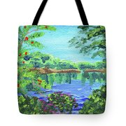 Impressionistic Landscape Xx Tote Bag