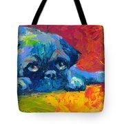 impressionistic Pug painting Tote Bag by Svetlana Novikova