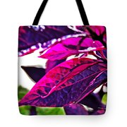 Impressionistic Purple Leaves Tote Bag