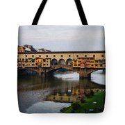 Impressions Of Florence - Ponte Vecchio Autumn Tote Bag