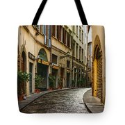 Impressions Of Florence - Walking On The Silver Street In The Rain Tote Bag