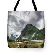 Impressive Weather Conditions At Milford Sound Tote Bag