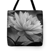 In A Mermaid's Garden - Monochrome Version Tote Bag