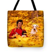 In A Yellow Wood - Paint Tote Bag