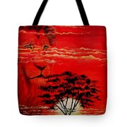 In An Arfican Sunset Tote Bag