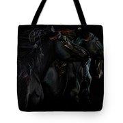 In Black Times Three Tote Bag