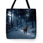 In Blue Wood Tote Bag