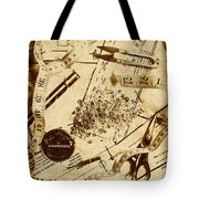 In Fashion Of Vintage Sewing Tote Bag
