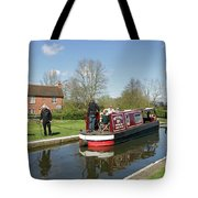 In Papercourt Lock On The Wey Navigations Tote Bag