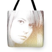 Silhouette Of Girl Through Letters Tote Bag