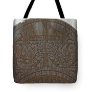 In Stone Cross And Crown Virginia City Nv Tote Bag