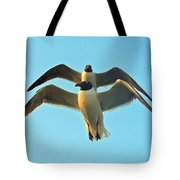 In Tandem At Sunset Tote Bag