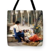 In The Courtyard Of The Harem Tote Bag